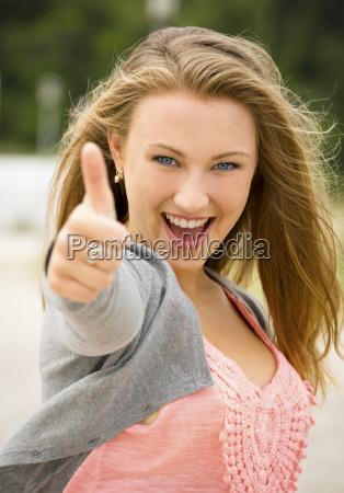 happy teenage girl