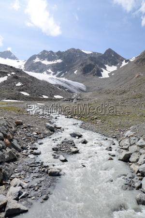 bach in the stubai alps