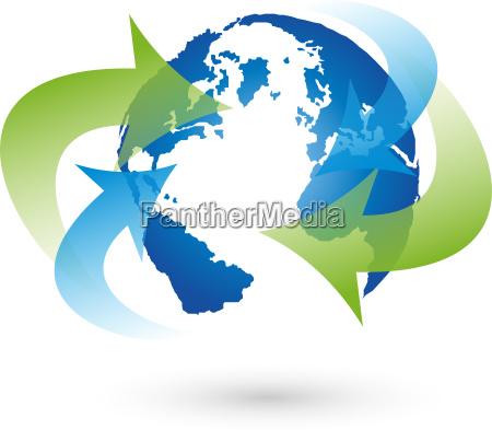 logo earth globe globe