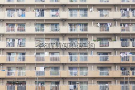 facade of an apartment building in