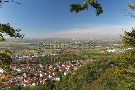view down from kirchberg hill to