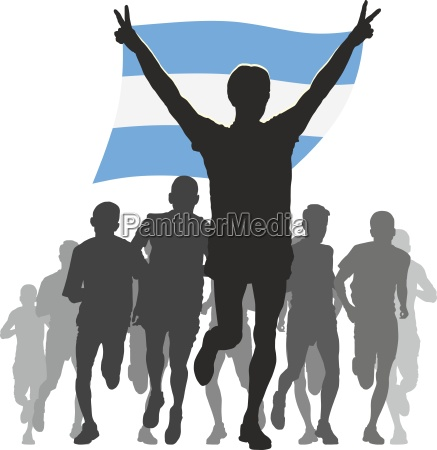 athlete, with, the, argentina, flag, at - 13607214