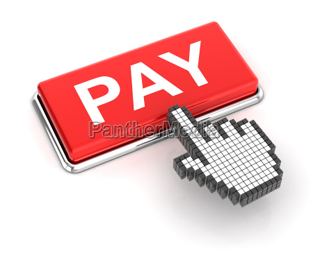 clicking on pay button 3d render