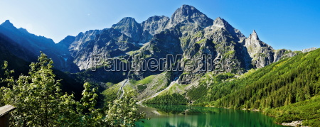 beautiful glacial lakes in polish tatra