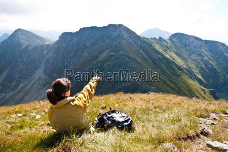 relax on hiking view on