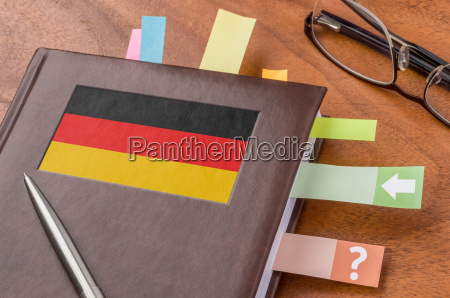 schedule with the flag of germany