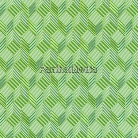 green cubes on a cloth pattern