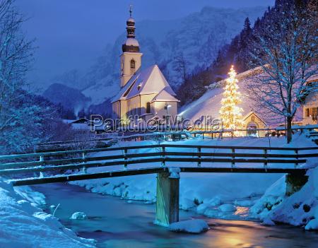 la capilla de navidad de ramsau