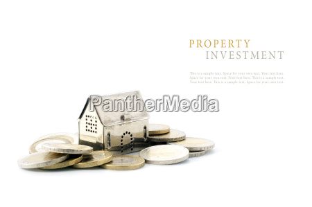 property investment silver golden house model