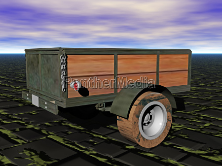 single axle trailer with tailgate