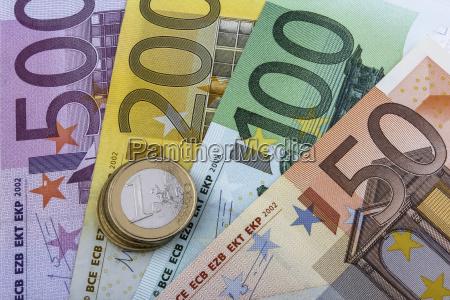 euros eur coins and notes