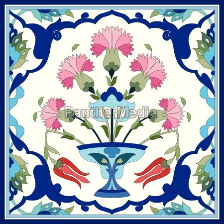 artistic ottoman pattern series seventy one
