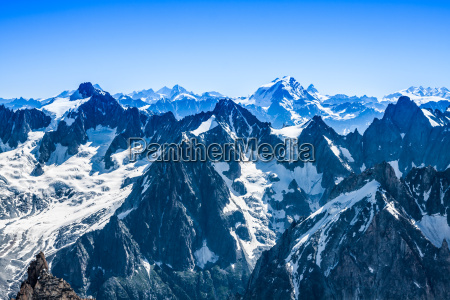 view of mont blanc mountain range