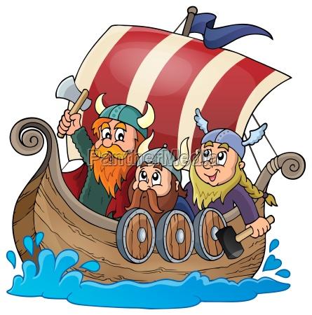 viking ship theme image 1