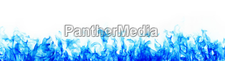 blue fire on white background