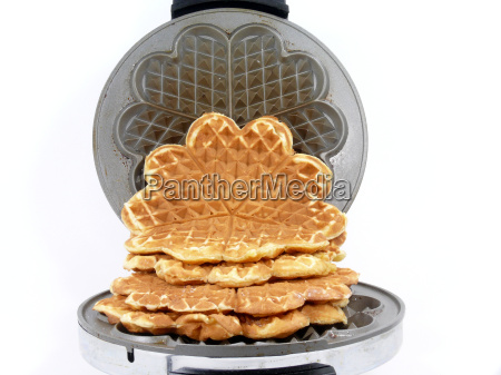 bake sweet waffle hearts in waffle