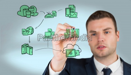 composite image of young businessman
