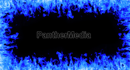 abstract fire frame on white background