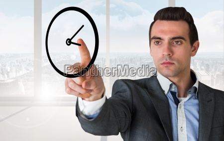 composite image of handsome young businessman