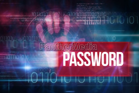 password against blue technology design with