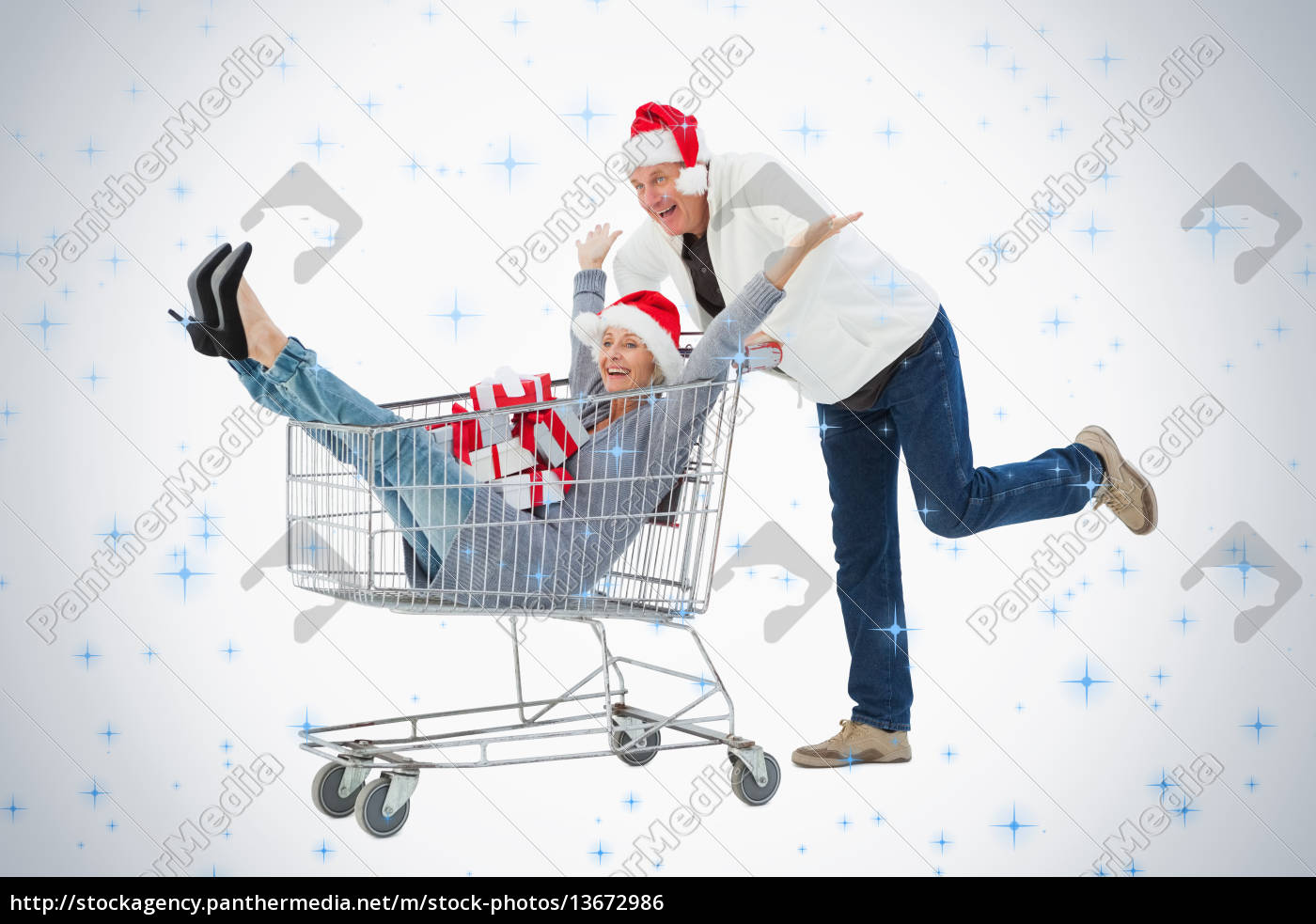 festive, mature, couple, in, winter, clothes - 13672986