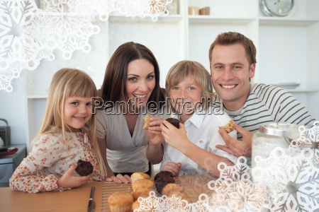 composite image of cute children eating