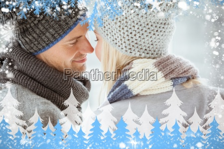 composite image of couple in warm