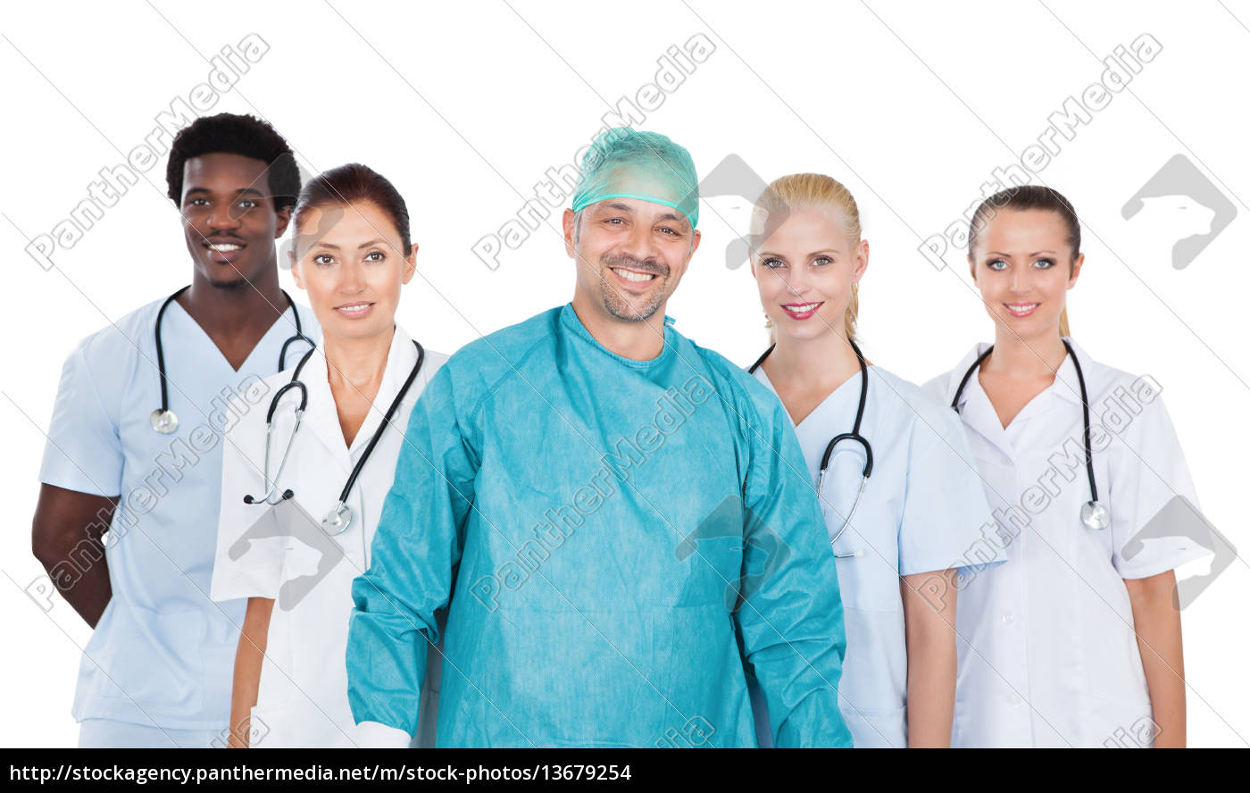group, of, happy, multiracial, doctors - 13679254