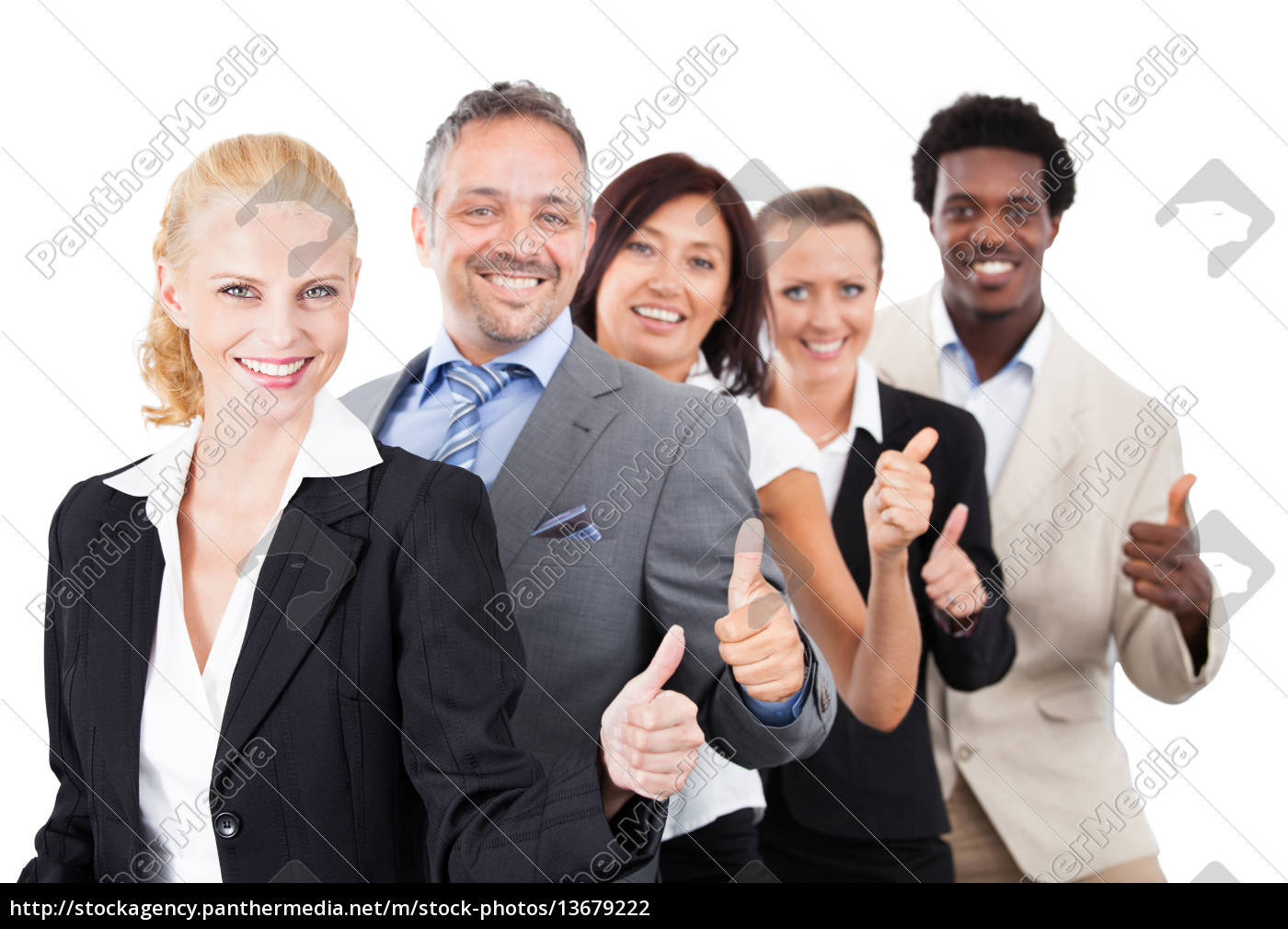 happy, multiracial, businesspeople - 13679222