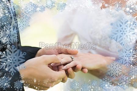 composite image of snow frame