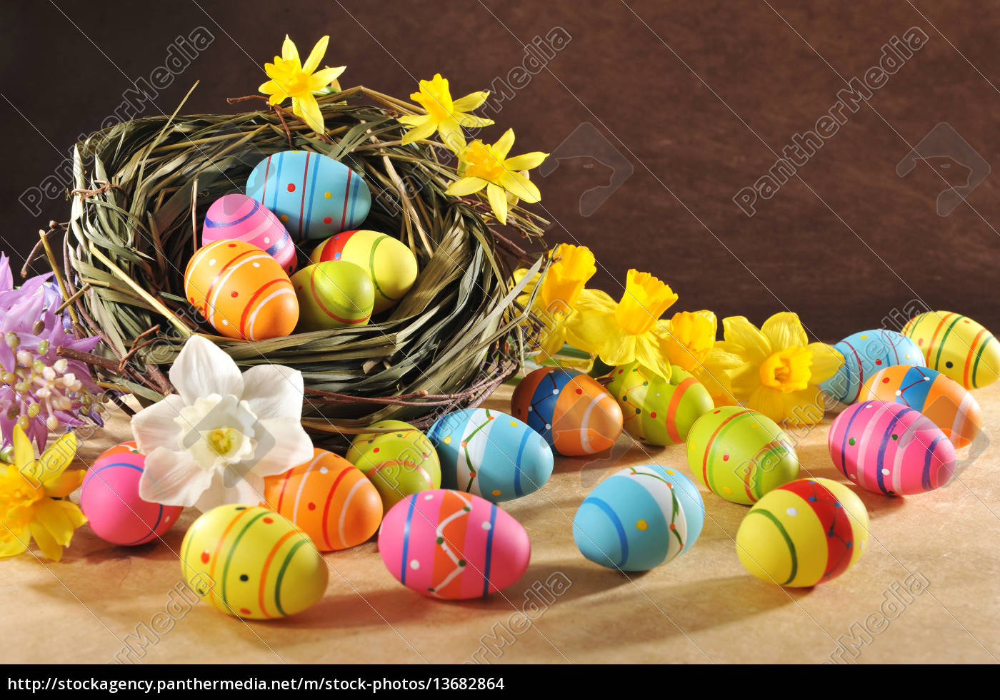 painted, easter, eggs - 13682864