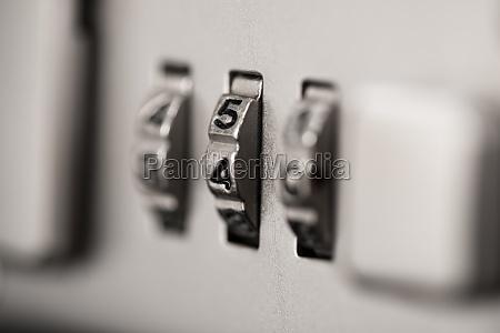 closeup of briefcase lock