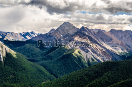 scenic view of rocky mountains range