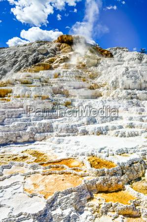 detail view of beautiful geothermal land