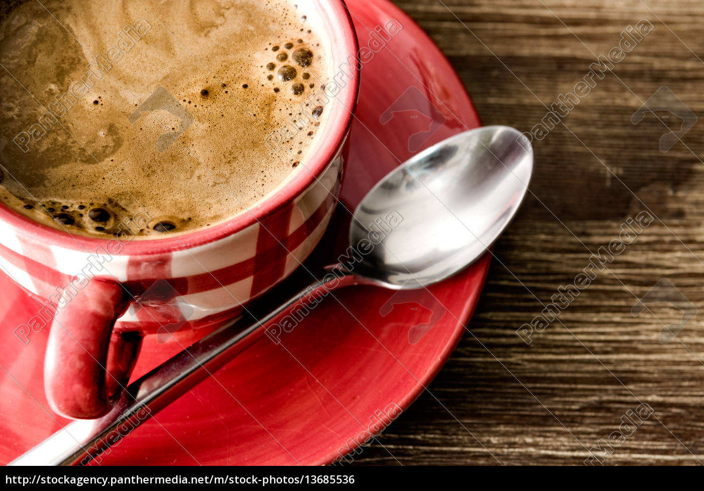 detail, of, coffee, in, red, cup - 13685536