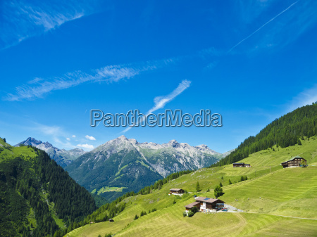 farmhouses on the hochalm in the