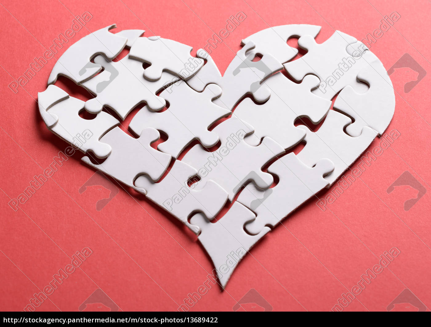 broken, heart, made, of, puzzle - 13689422