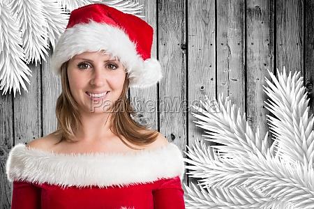 composite image of pretty girl in