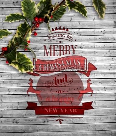 composite image of christmas message with