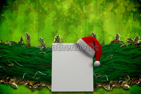 composite image of fir branch christmas