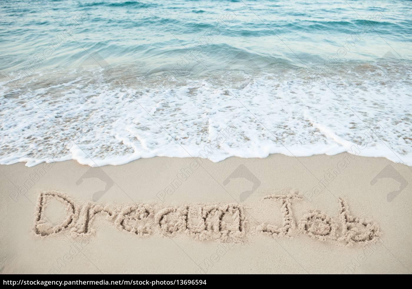 word, honeymoon, written, on, beach - 13696594