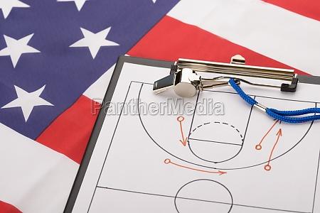 basketball tactics on a sheet of