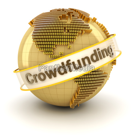 crowdfunding, symbol, with, globe, formed, by - 13702264
