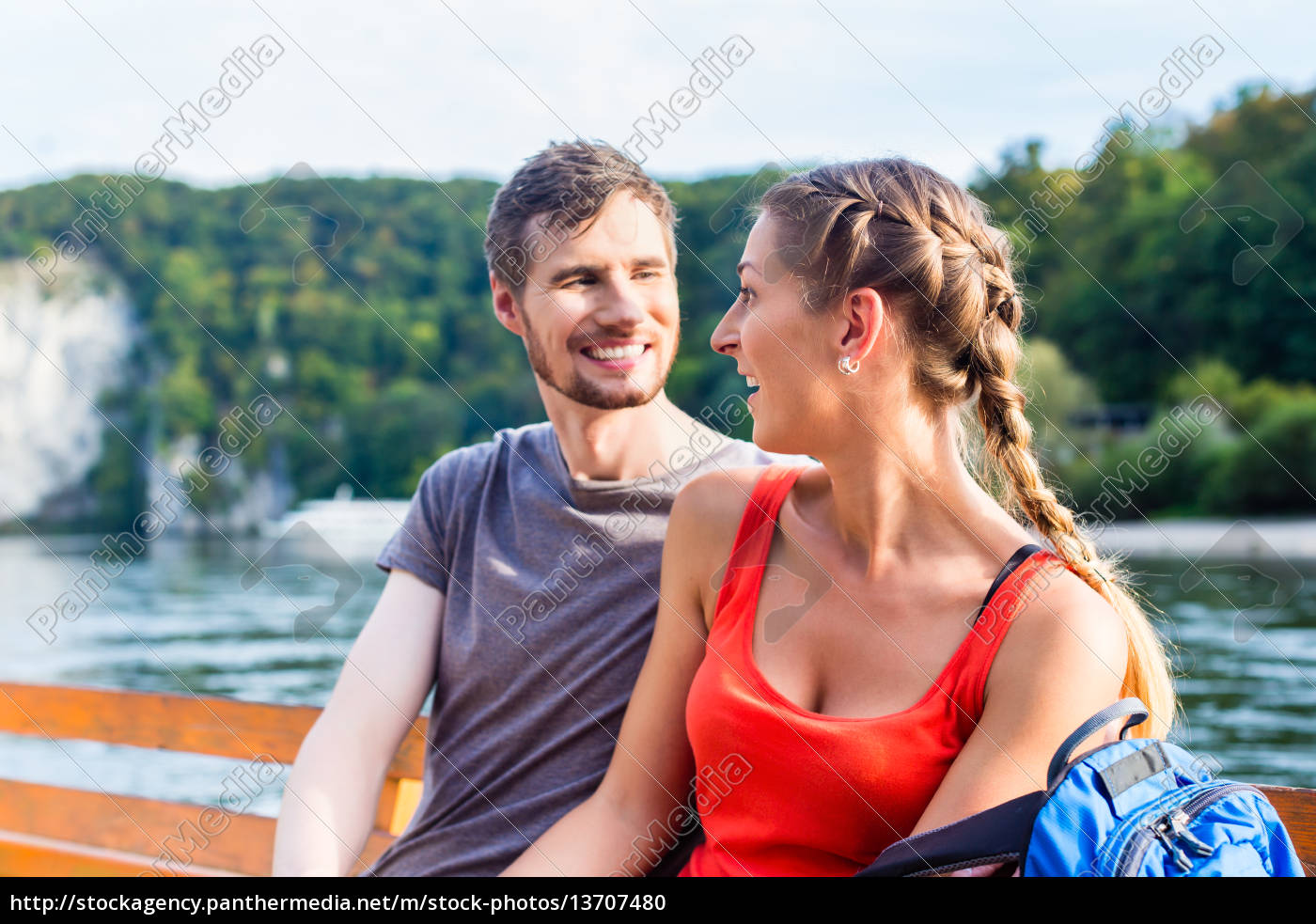 couple, on, boat, on, the, danube - 13707480
