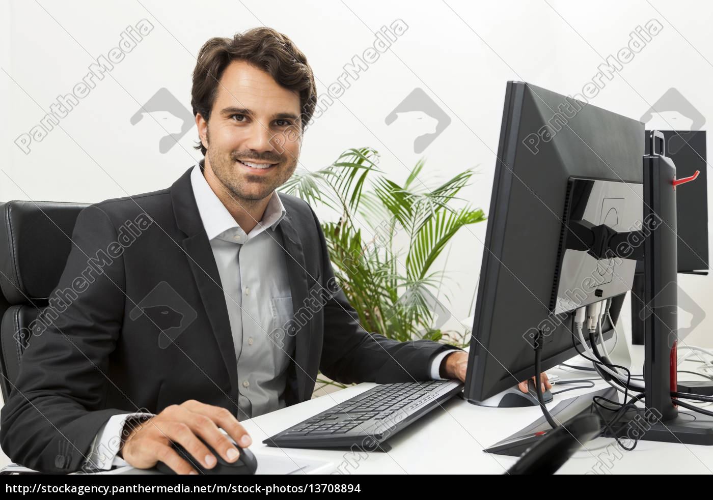 young, successful, businessman, with, a, black - 13708894