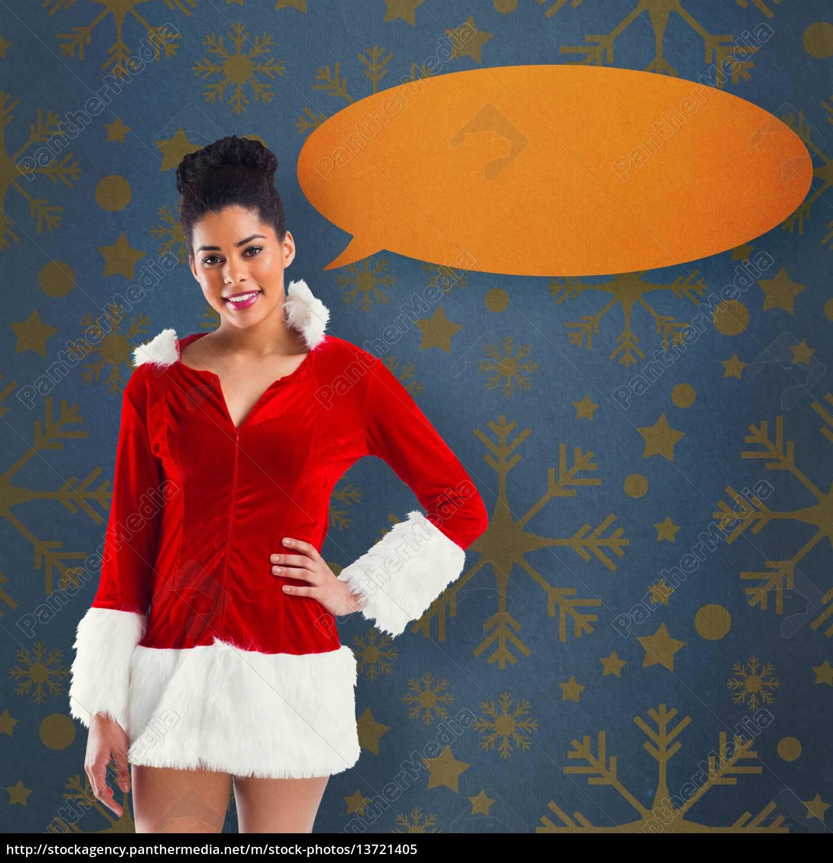 composite, image, of, pretty, santa, girl - 13721405