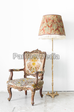 retro, chair, with, lamp - 13721419