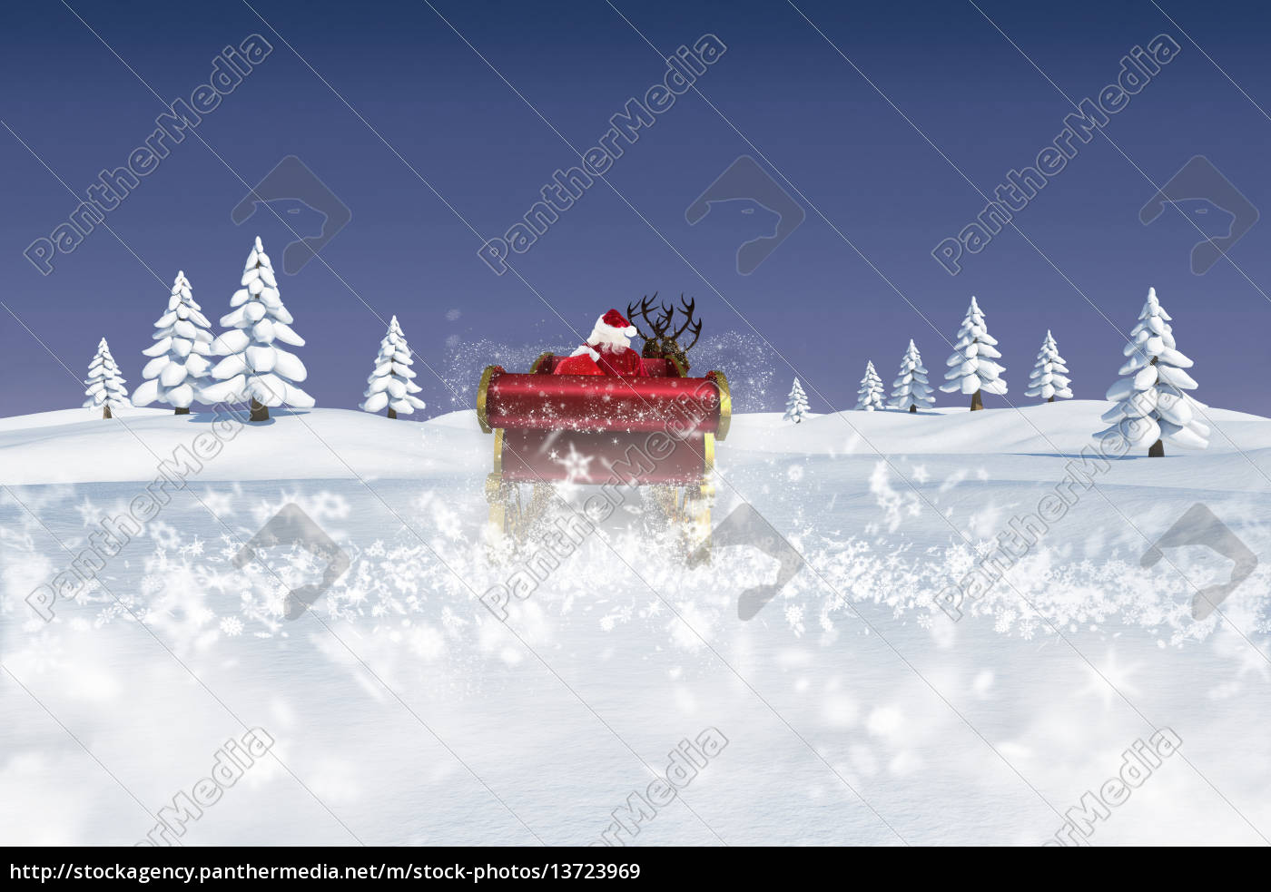 composite, image, of, santa, flying, his - 13723969