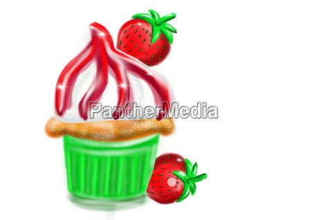 cupcake as illustration