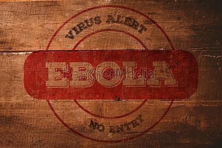 composite image of ebola virus alert